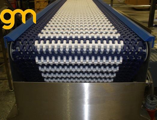 Băng tải lưới inox rửa xúc xích